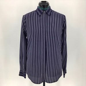 Joe Fresh Button Down Pin-Striped Dress Shirt, Sm